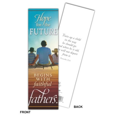 Christian Father's Day bookmarks with Scripture