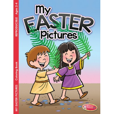 Christian Easter and Palm Sunday color book