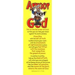 Armor of God bookmarks for kids