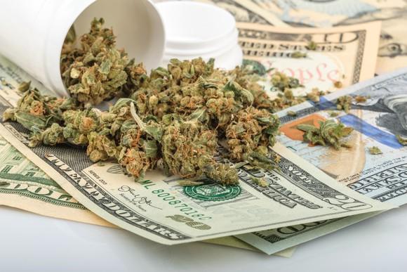 Marijuana On Top Of Money Getty