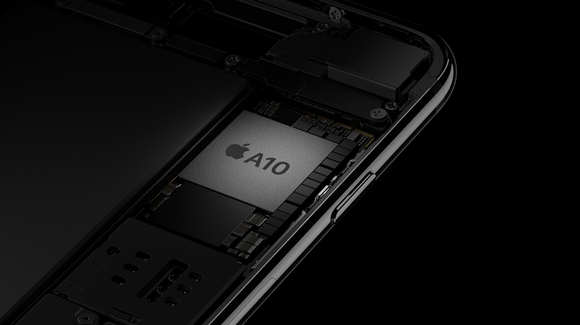Tearaway rendering of Apple's A10 Fusion chip