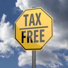 "highway sign that says ""tax free"""