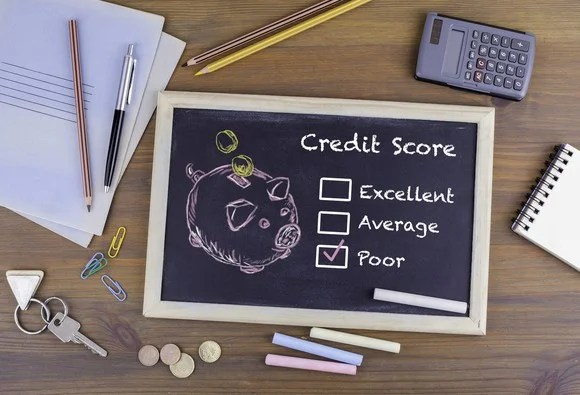 """""""poor"""" option checked off on credit score options"""