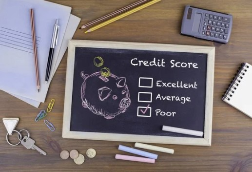 """poor"" option checked off on credit score options"