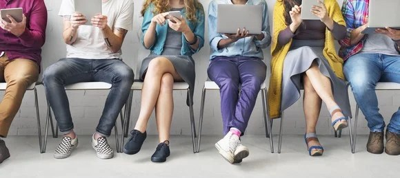 People using mobile devices
