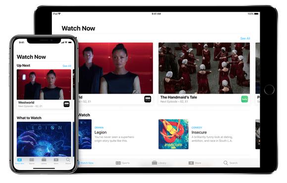 Apple's TV app on iPhone and iPad