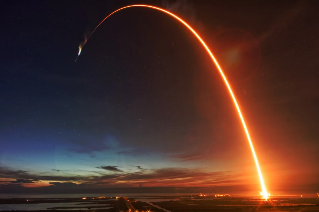 A rocket being launched into space.
