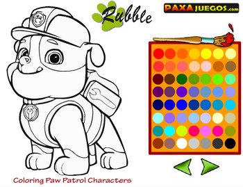 Раскраска щенячий патруль играть онлайн бесплатно на ...