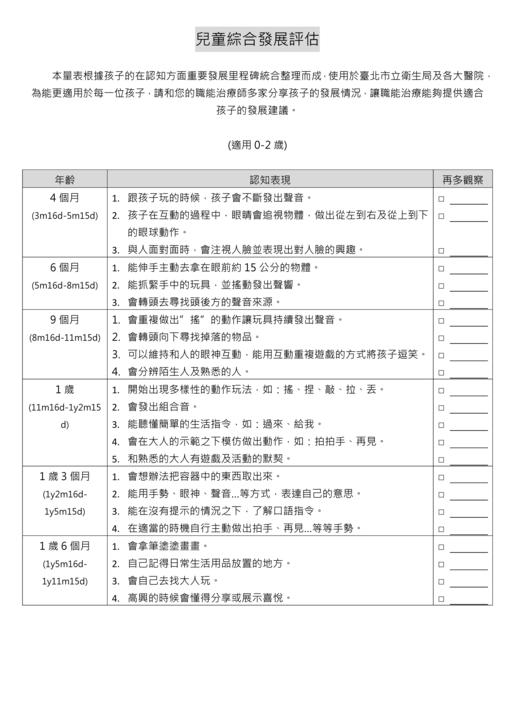 簡易幼兒認知評估自填表 - 兒童職能治療師 吳宜燁 - udn部落格