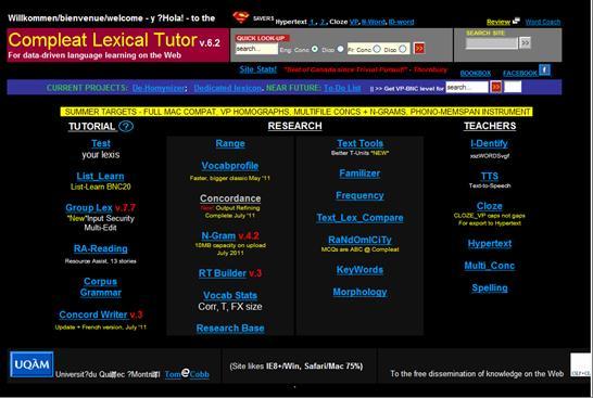 英文寫作學習資源: The Compleat Lexical Tutor (1) 字彙量測驗 - 廖柏森:英語與翻譯教學 - udn部落格