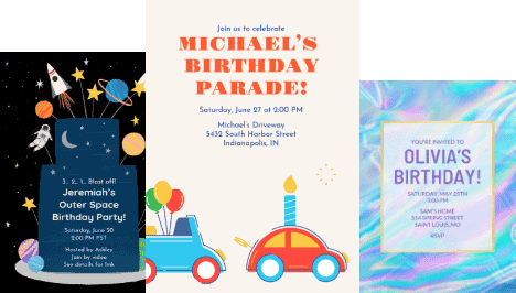 online invitations and ecards for any