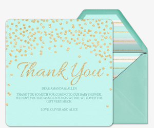 Baby Sparkle Thank You Invitation