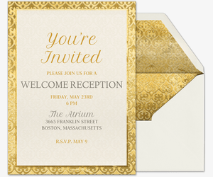 Free Welcome And Wedding Reception Invitations Evite