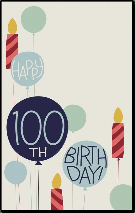 100th birthday invitation evite