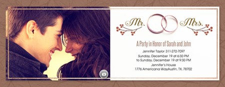 Online Wedding Invitations with RSVP tracking   Evite com Fall Wedding Band Invitation      Free