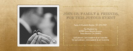 Free Engagement Party Invitations   Evite com Festive Gold Metallic Invitation