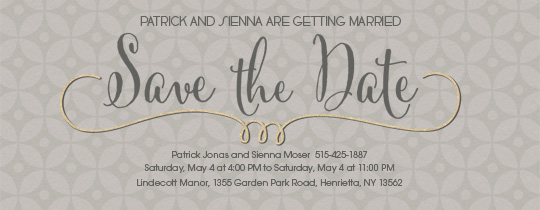Save The Date Links Invitation