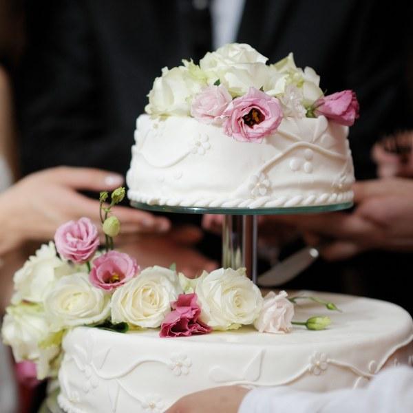 Einfache romantische Hochzeit.
