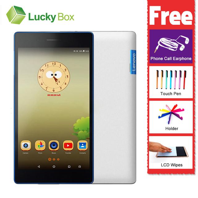 Новое Прибытие 7 дюймов Lenovo Tab3 730F 730 М Таблетки Android 6.0 GPS 1 ГБ RAM 16 ГБ Dual SIM двойной резервный 3450 мАч 5-МП КАМЕРОЙ Quad Core