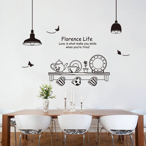 Buy Kitchen Cooking Tools Wall Sticker Vinyl