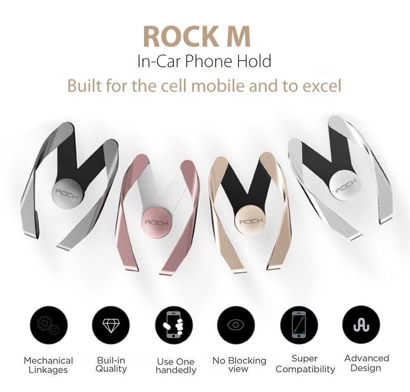 רוק מקורי-רכב, סגנון טלפון נייד פתח מחזיק אייפון 7 Xiaomi לשקע אוויר מתכוונן popsocket