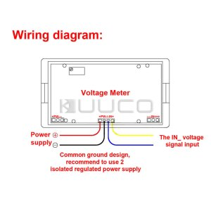 WholesaleFour Wires Digital Voltage Meter AC 0~20V Blue LCD Voltmeter ACDC 8V 12V Volt Monitor