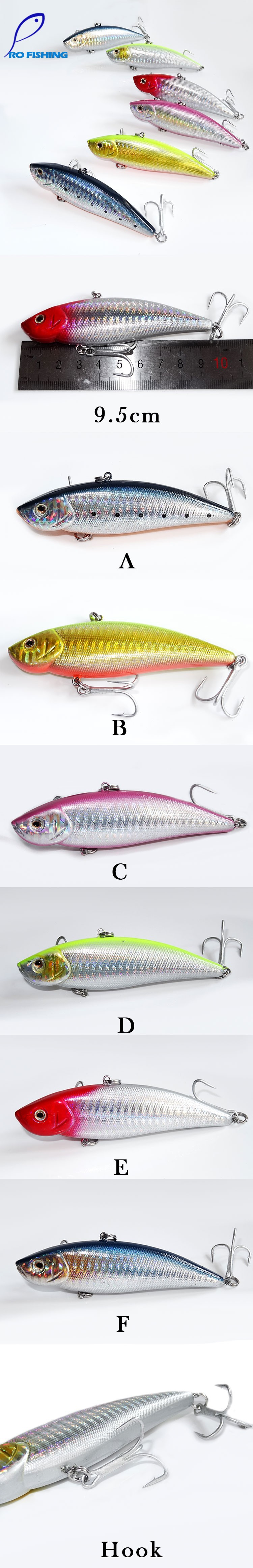 Pesca Artificial Bait 38g 9.5cm Fishing VIB Boat Fishing Sinking Sea Trout Trolling Plke Sinking Lure for Fly Fishing lures