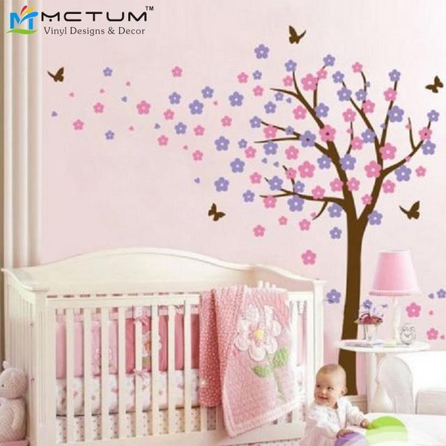 Tableau Deco Chambre Fille Stickers Arbres Papillon Fleurs