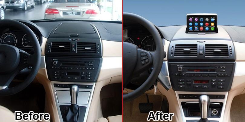 שדרוג המקורי הרדיו ברכב נגן החליפה. ב. מ. וו X3 E83 2004-2010 מכונית נגן וידאו מובנה WiFi ניווט GPS Bluetooth