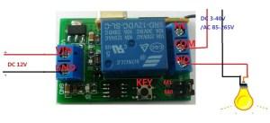 DC 12v Relay Wireless Remote Control RF Switch Onoff