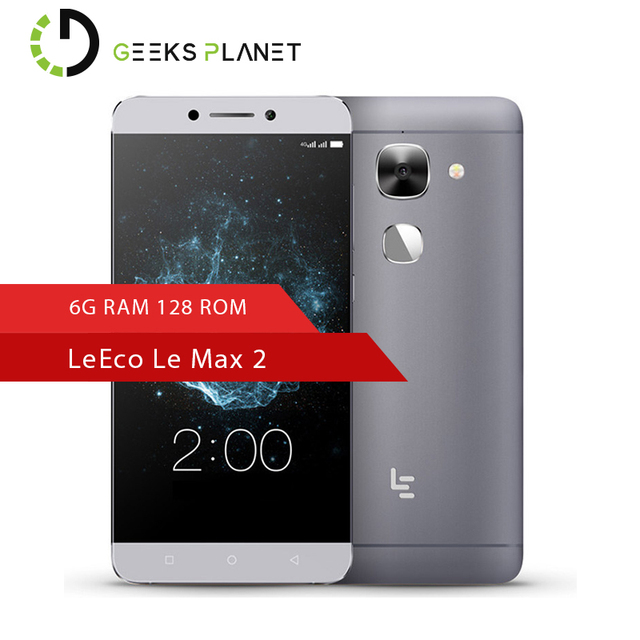 Original LeEco LE MAX 2 X829 Mobile Phone 6G RAM 128G ROM Qualcomm Snapdragon 820 5.7 Inch 2K Screen Android 6.0 Smartphone