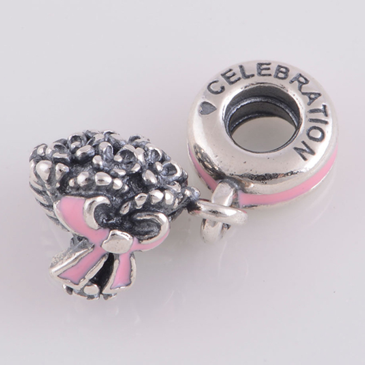 Pandora Pink Flower Dangle Charm