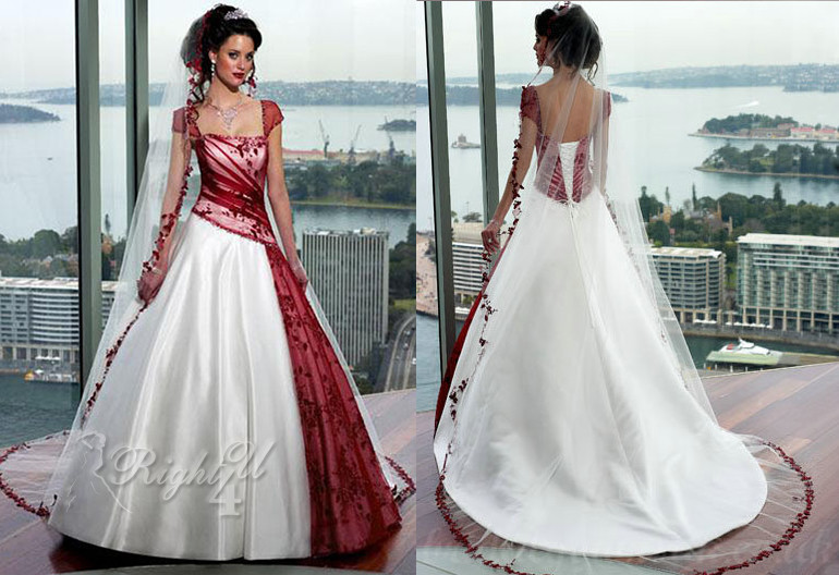CC1002_6 Indian Modern Applique Bodice Organza Ball Gown