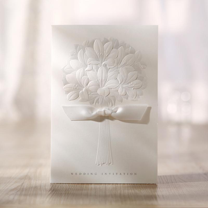 Embossed Erfly Wedding Invitations