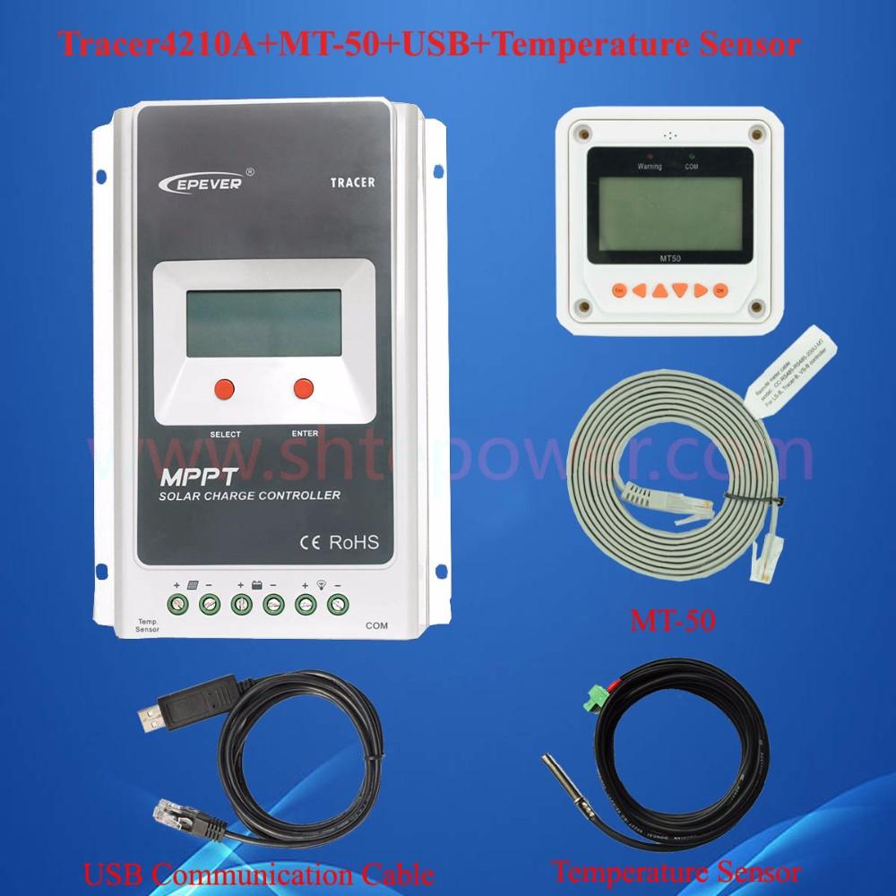 EPEVER tracer4210 40amp mppt surya controller max pv 100 v input mppt biaya  surya kontroler 12 v 24 v 40a 590873bdf8