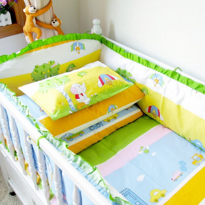 Free Shipping Newborn Cot Pers Quilt Pillow Bed Sheet Mattress Baby Crib