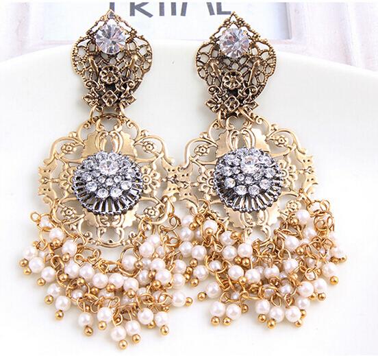 Antique Gold Chandelier Earrings Chandeliers Design – Vintage Chandelier Earrings