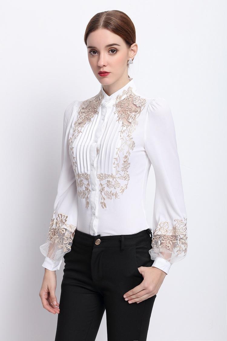 HTB1NIrKOVXXXXbzXXXXq6xXFXXXt - 2017 Spring Women Elegant Hollow Princess Long Sleeve Brand Silk Blouse Shirts white/black embroidery Shirts Tops Female Blusas
