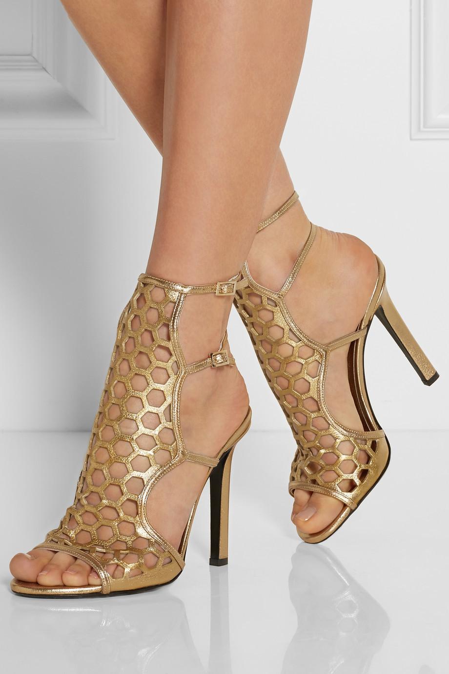 Toe Strap Open White Wedding Shoes