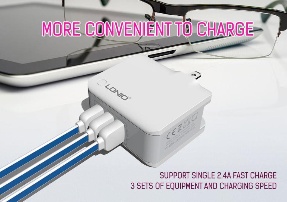 LDNIO מסתגל מהר מטען 2/3/4 יציאות USB חכם מהיר מטען לאייפון 7/6/5 ipad עבור סמסונג LG HTC טבליות