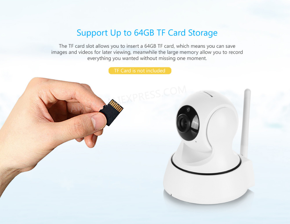 Sannce 720p Wireless Ip Camera Wifi Smart Ir Cut Night