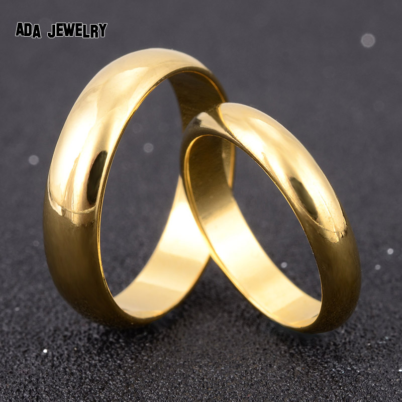 Wholesale Simple Engagement Wedding Couple Rings Lovers