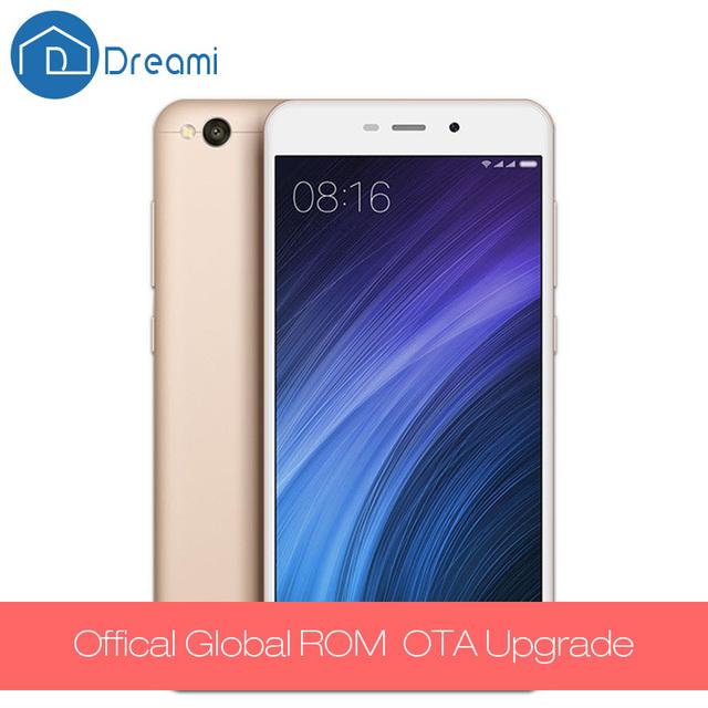 Dreami Original Xiaomi Redmi 4A Snapdragon 425 2GB RAM 16GB ROM Quad Core 5.0 Inch 3120mAh Battery 13MP Cellphone 4 A