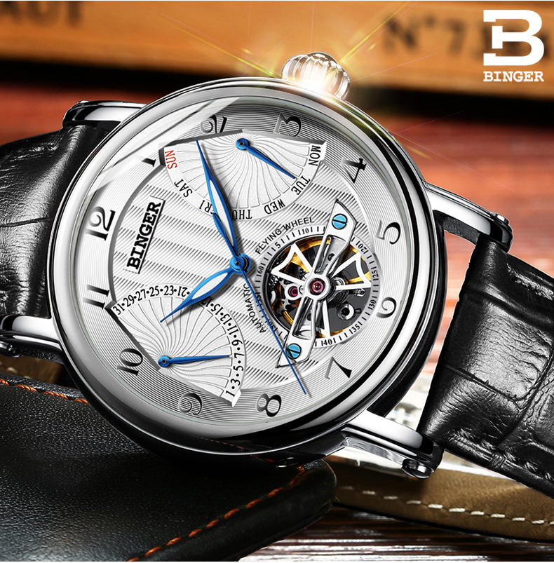 Switzerland watches males luxurious model BINGER enterprise sapphire Water Resistant leather-based strap Mechanical Wristwatches B-1172-Four HTB1a6ptQXXXXXbUXVXXq6xXFXXXN