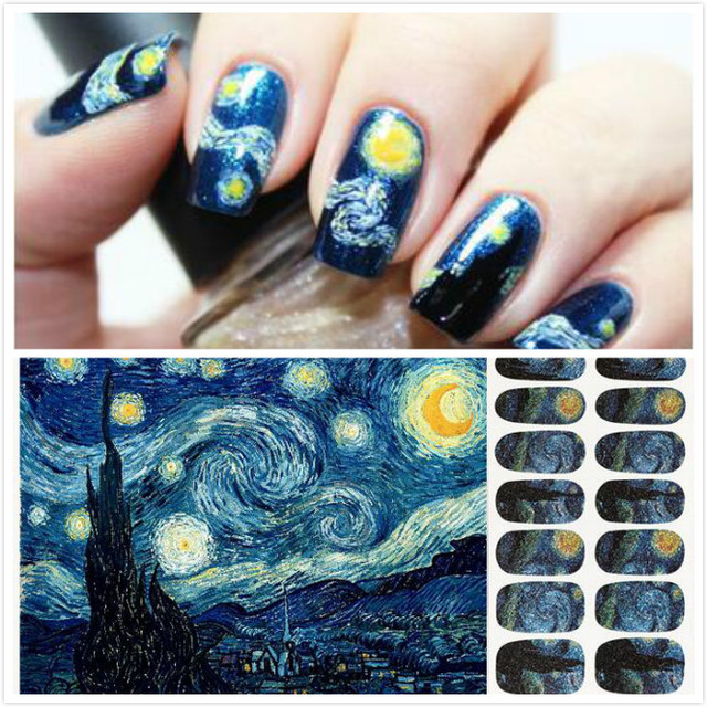 Starry Night Nail Art Nails Polish Colour Effects