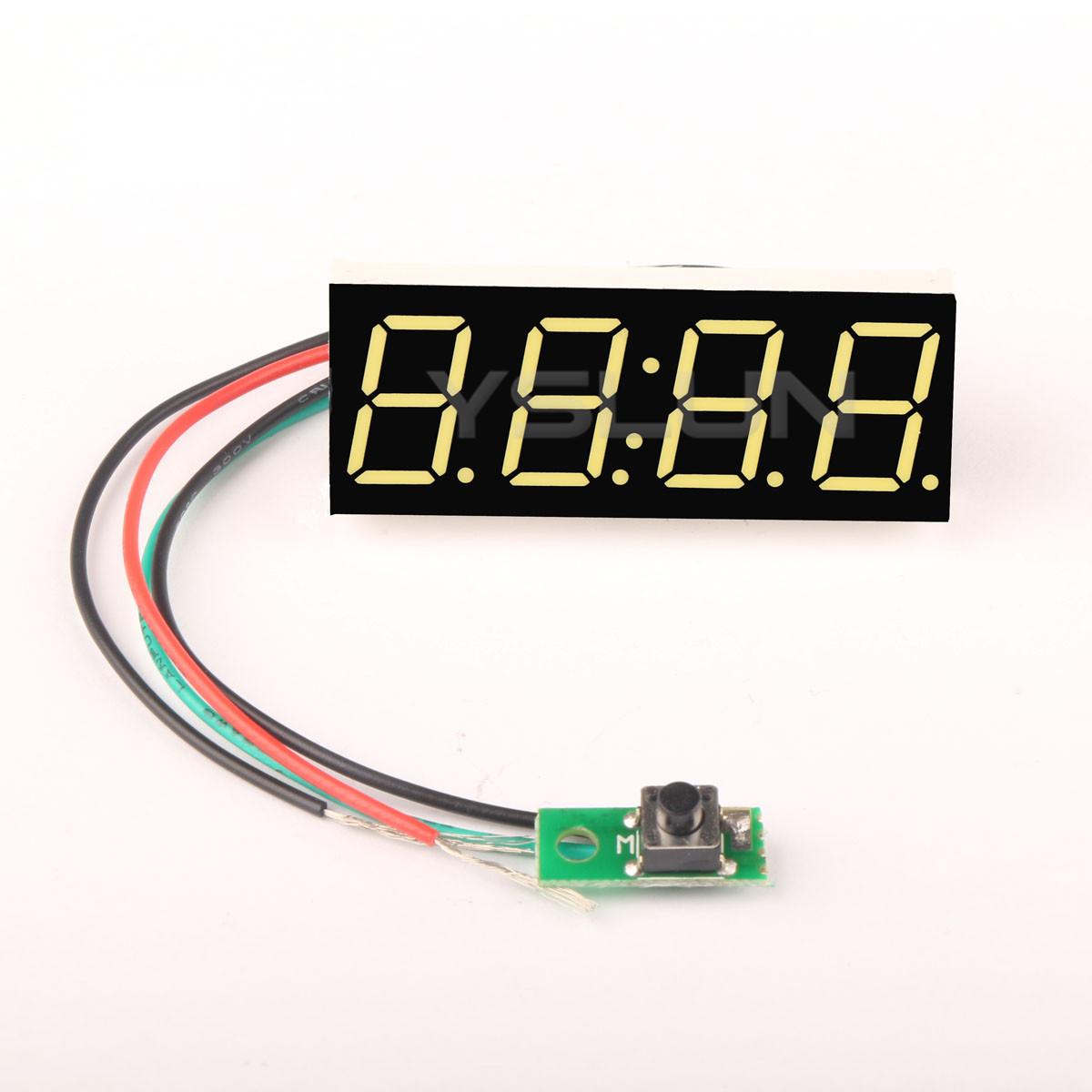 0 56 White Led Display Digital Clock Dc 12v 24v 24 Hour