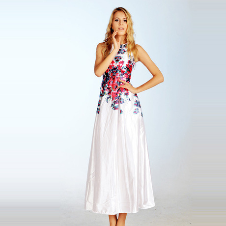 Floral Dress Ankle Length