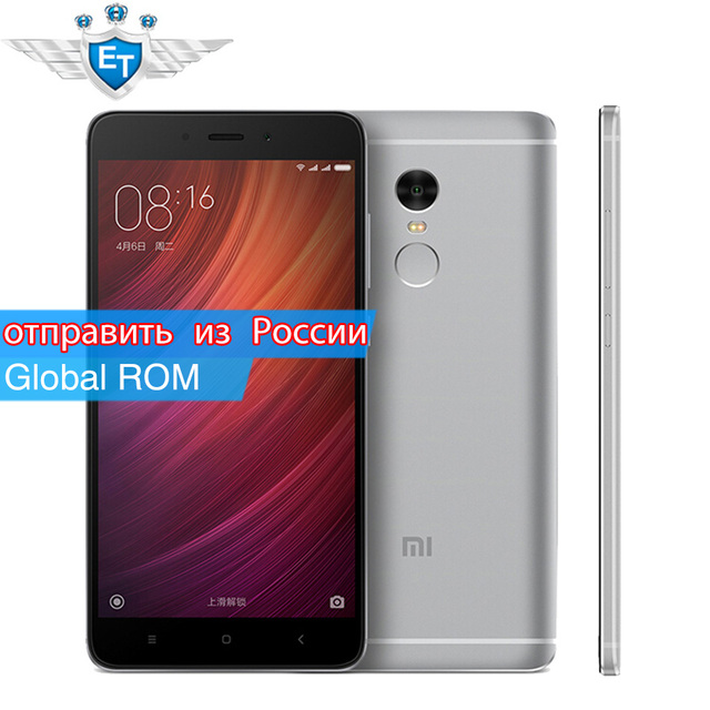 "Original Xiaomi Redmi Note 4 Pro Prime Cell phones 5.5"" 1080P MTK Helio X20 Deca Core 3GB RAM 64GB 13MP Fingerprint Metal Body"