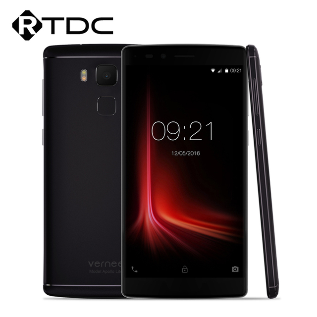 """In Stock Original Vernee Apollo Lite Mobile Phone 4G 5.5""""FHD Android 6.0 MTK6797 Deca Core 4G RAM 32G ROM 16.0MP TouchID 3180mAh"""