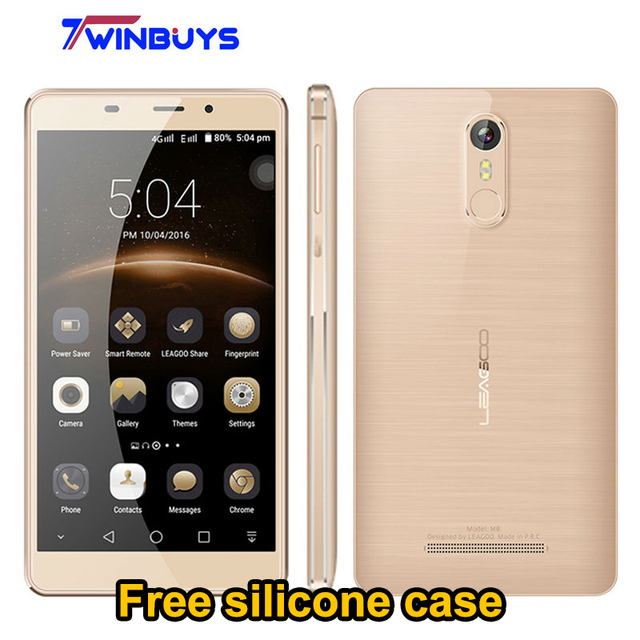 "Leagoo M8 3G Mobile Phone Android 6.0 MT6580A 5.7"" Quad Core 2GB RAM 16GB ROM 13.0MP 3500mah Fingerprint Smartphone PK Leagoo M5"